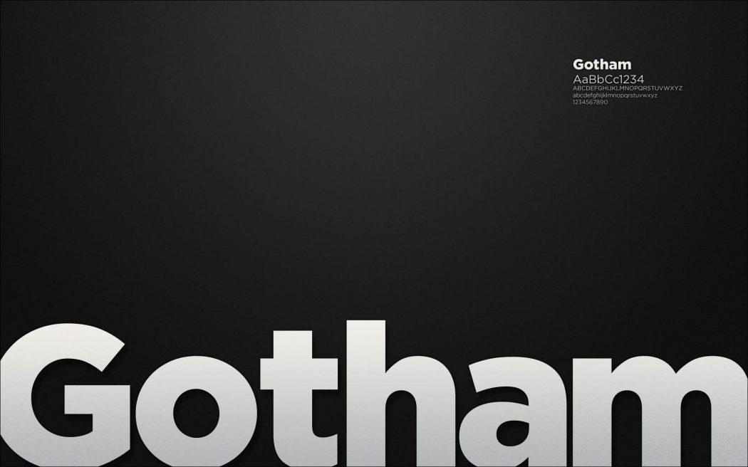 Gotham, il font made in USA.